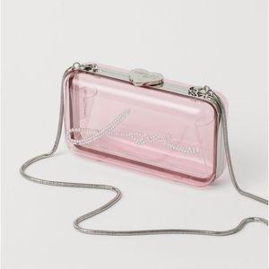Giambattista Lucite clear pink clutch